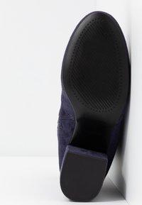 Dorothy Perkins - AVERY MF SOCK BLOCK HEEL  - Classic ankle boots - navy - 6