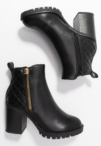 Dorothy Perkins - ASHLEIGH CHUNKY QUILTED SIDE ZIP - Ankelboots - black - 3