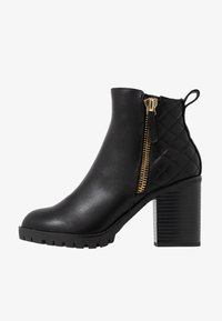 Dorothy Perkins - ASHLEIGH CHUNKY QUILTED SIDE ZIP - Ankelboots - black - 1