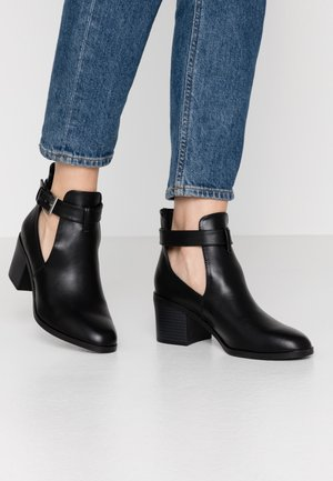 AUDIO OPEN SIDED HEELED - Ankle boots - black