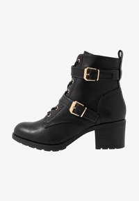 Dorothy Perkins - MARIE LACE UP HEELED BOOT - Lace-up ankle boots - black - 1
