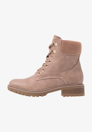 MONTREAL LACE UP CHUNKY HIKER - Lace-up ankle boots - pink
