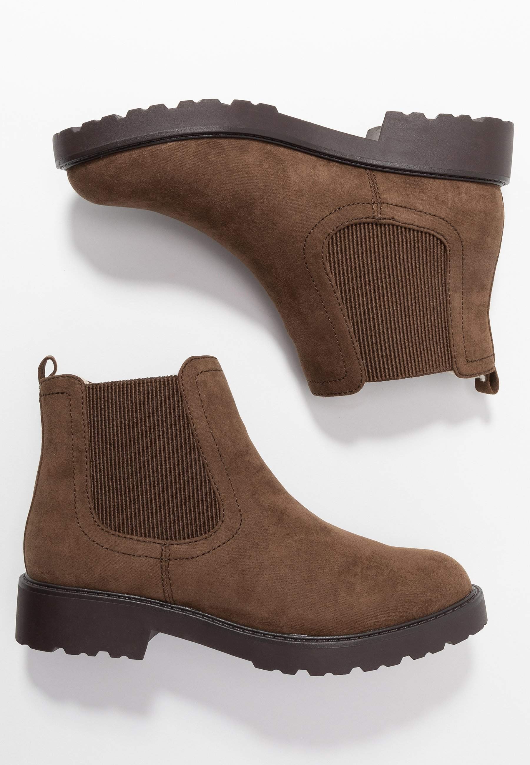 Dorothy Perkins MOUNTY CHUNKY CHELSEA CLEATED SOLE - Ankle boot - taupe