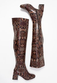 Dorothy Perkins - LOLA SKYE LAELA HIGH SHAFT BOOT - Over-the-knee boots - brown - 3