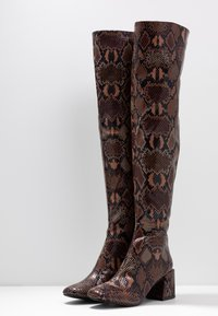 Dorothy Perkins - LOLA SKYE LAELA HIGH SHAFT BOOT - Over-the-knee boots - brown - 4