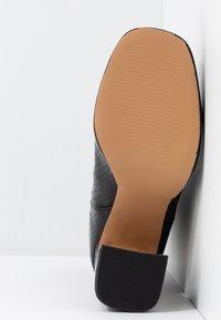 Dorothy Perkins - LOLA SKYE LOOPER ASYMETRIC SQUARE TOE BOOT - High heeled ankle boots - black - 6