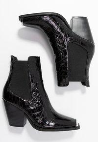 Dorothy Perkins - LOLA SKYE LUCA SQUARE TOE WESTERN - Kotníková obuv na vysokém podpatku - black - 3