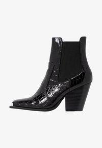 Dorothy Perkins - LOLA SKYE LUCA SQUARE TOE WESTERN - Kotníková obuv na vysokém podpatku - black - 1