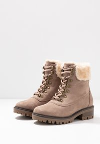 Dorothy Perkins - MILLIE COLLAR LACE UP HIKER - Schnürstiefelette - taupe - 4