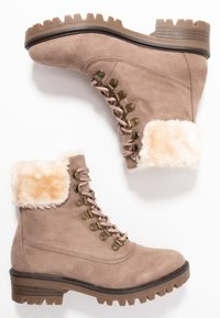 Dorothy Perkins - MILLIE COLLAR LACE UP HIKER - Schnürstiefelette - taupe - 3