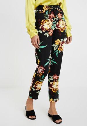 ELSIE FLORAL PRINT - Trousers - black