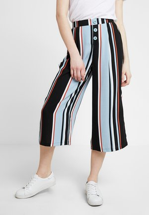 BLUE STRIPE BUTTON THROUGH CROP - Shorts - blue