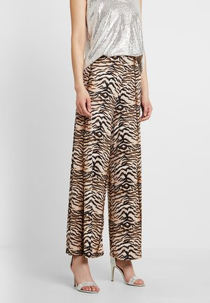 TIGER PRINT PALAZZO - Trousers - brown