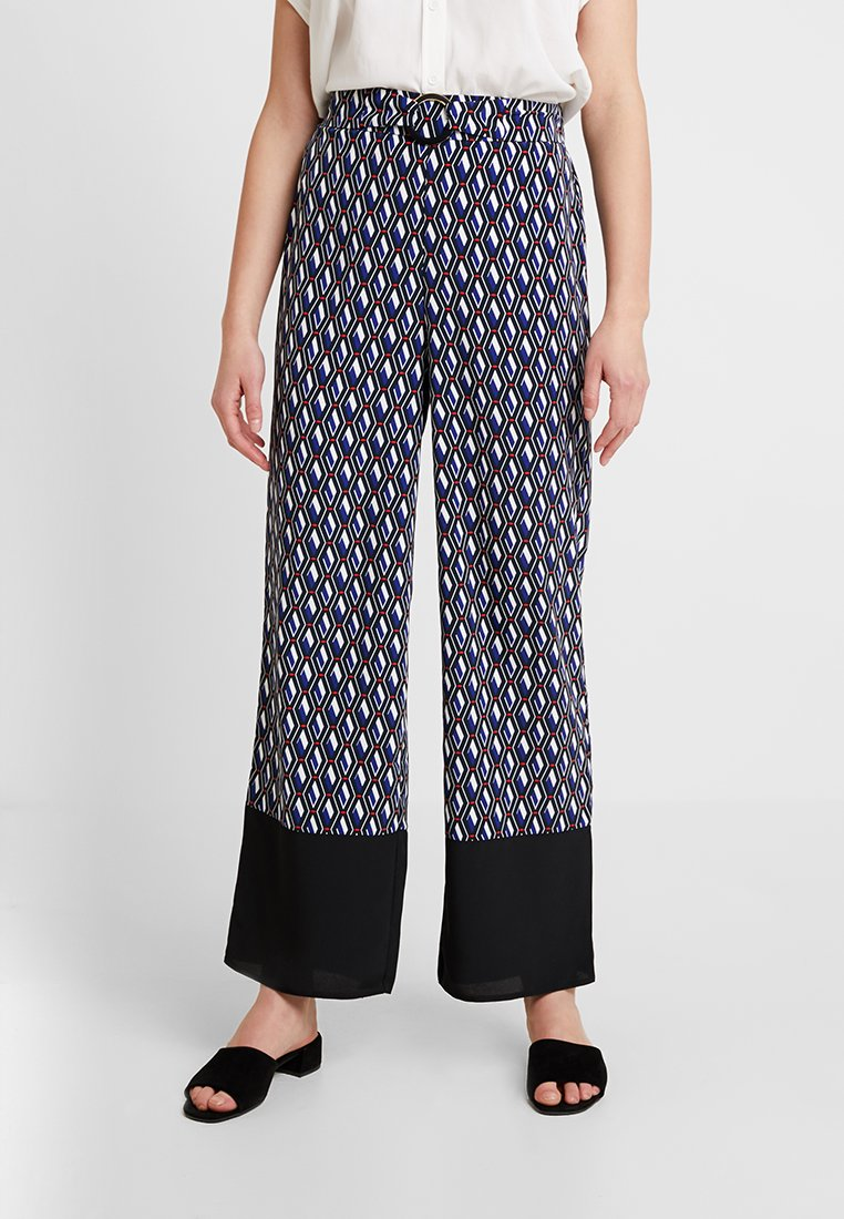 Dorothy Perkins - GEO PRINT RING PALAZZO - Pantalones - multi-coloured