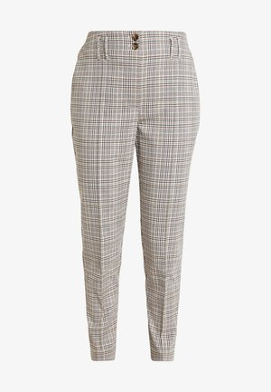 BELTED CHECK - Pantaloni - multi dark