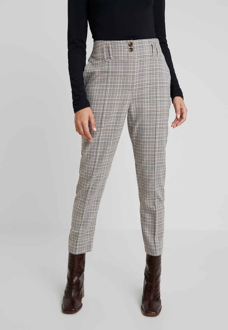 Dorothy Perkins - BELTED CHECK - Pantalon classique - multi dark