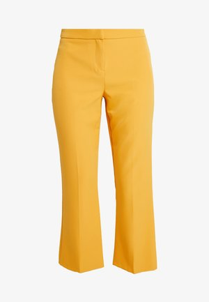 CROP KICK FLARE - Pantaloni - ochre