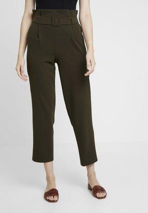 BELT PAPERBAG TROUSER - Trousers - khaki