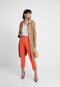 Dorothy Perkins - SPLIT FRONT PUMPKIN - Trousers - orange - 1