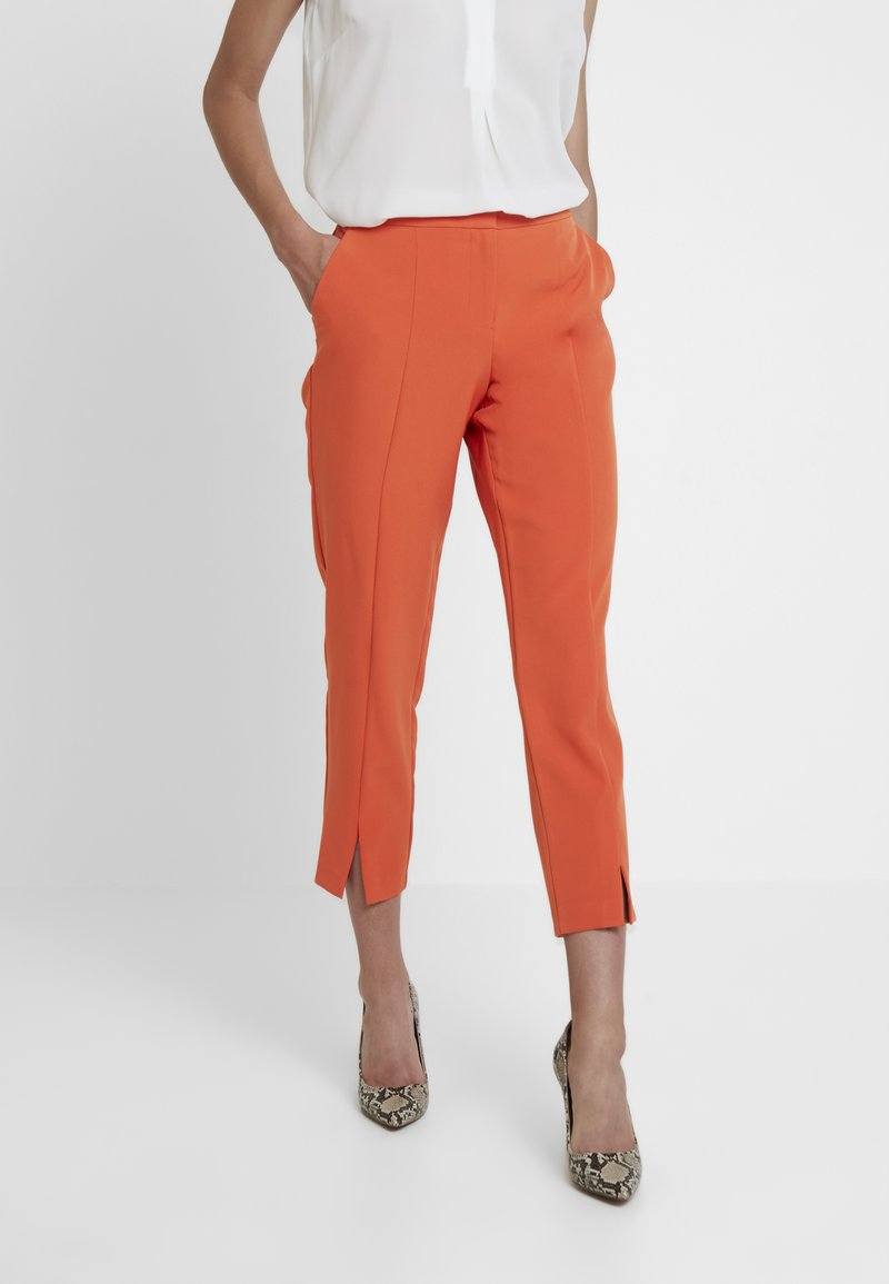 Dorothy Perkins - SPLIT FRONT PUMPKIN - Trousers - orange