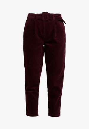 BELTED TROUSER - Trousers - aubergine