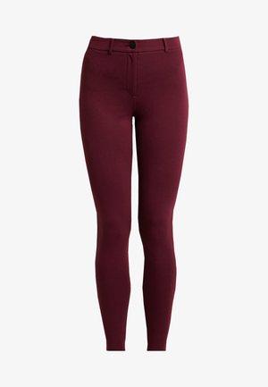 ONE BUTTON TREGGING - Legging - dark red