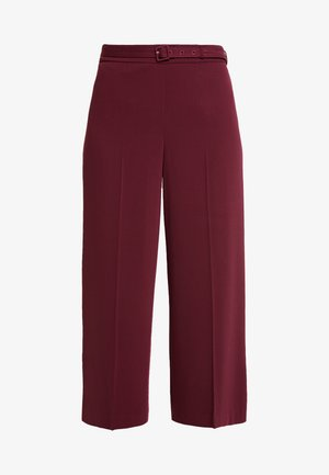 BELT WIDE LEG TROUSER DAMSON - Stoffhose - purple