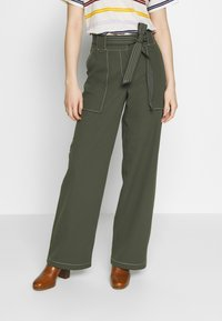 Dorothy Perkins - TROUSER - Pantalones - dark green - 0