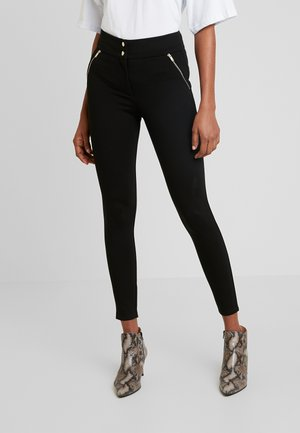 ZIP TREGGING - Trousers - black