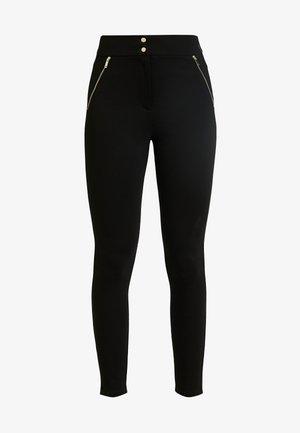 ZIP TREGGING - Pantalon classique - black