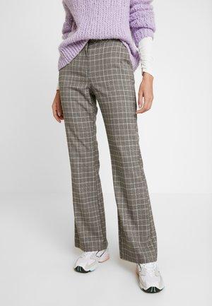 CHECK BOOTCUT - Kalhoty - multi dark