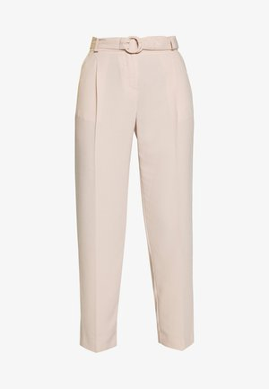 BUCKLE DETAIL TROUSER - Pantalon classique - light brown
