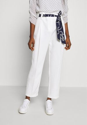 PRINTED TIE TROUSER - Trousers - ivory