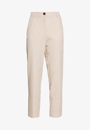 ELASTIC BACK BUTTONED ANKLE GRAZER TROUSER - Bukse - beige