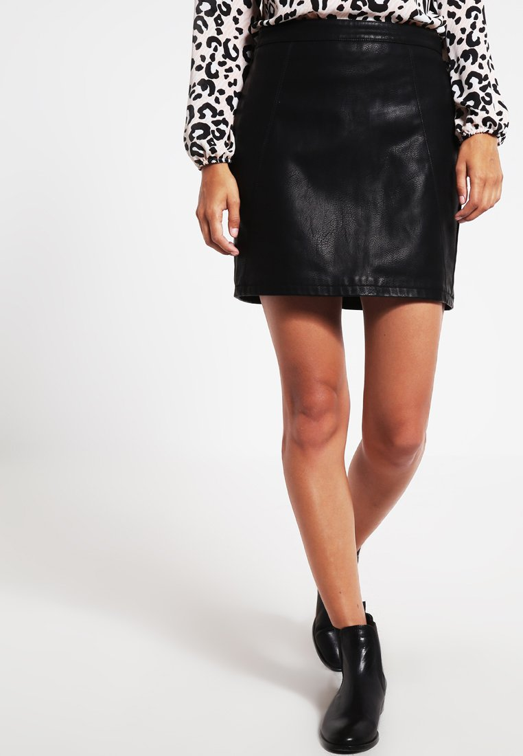 Dorothy Perkins - SKIRT - A-lijn rok - black