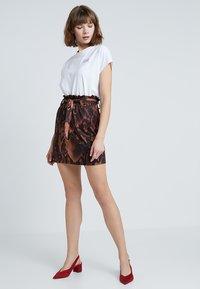 Dorothy Perkins - SNAKE TIE WAIST - Mini skirt - brown - 1