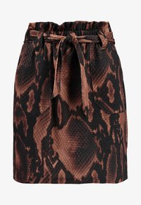 Dorothy Perkins - SNAKE TIE WAIST - Mini skirt - brown - 3