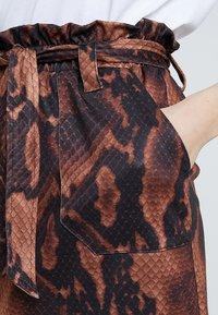 Dorothy Perkins - SNAKE TIE WAIST - Mini skirt - brown - 4