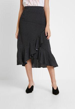WRAP MIDI - Zavinovací sukně - black