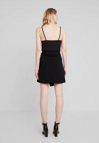 Dorothy Perkins - GOLD BUTTON WRAP SKIRT - A-line skirt - black - 2