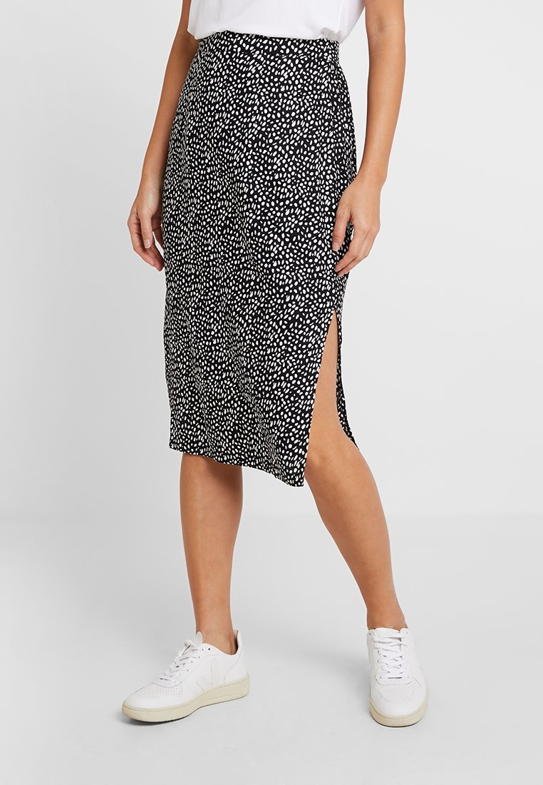 Dorothy Perkins - SOFT BELTED PENCIL SKIRT - Maxirock - black/multi