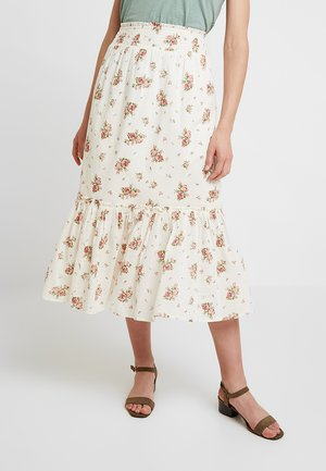 DITSY SKIRT - Maxi skirt - off-white