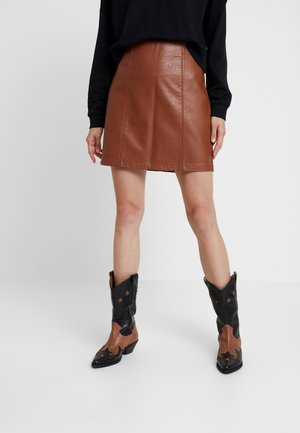 SEAM DETAIL SKIRT - A-line skirt - tan