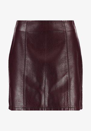 SEAM DETAIL SKIRT - Áčková sukně - purple