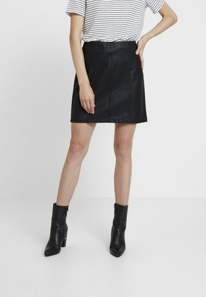 SEAM DETAIL SKIRT - Jupe trapèze - black