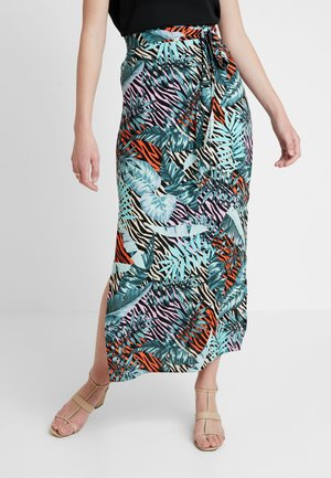 ZEBRA PALM MAXI SKIRT - Falda larga - multi-coloured