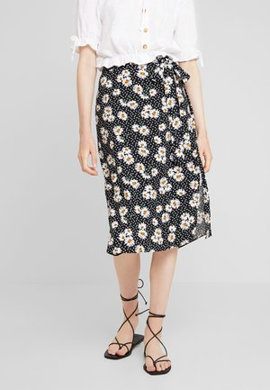 DAISY TIE WAIST MIDI - Gonna a tubino - black