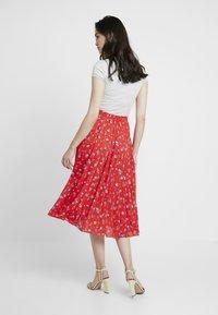 Dorothy Perkins - PLEATED SKIRT - A-line skirt - red - 2