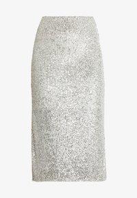 Dorothy Perkins - SEQUIN - Pencil skirt - silver - 3