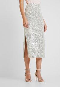 Dorothy Perkins - SEQUIN - Pencil skirt - silver - 0